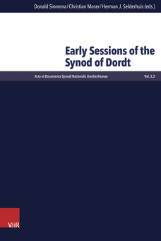 Buchcover Early Sessions of the Synod of Dordt